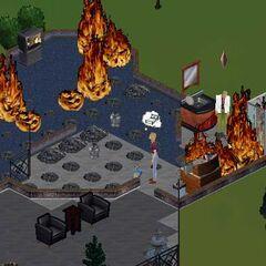Pożar w <a href=