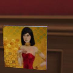 Obraz Belli zrobiony w The Sims 4 dzięki dużej umiejętności malarskiej