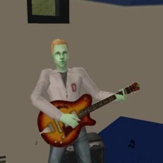 Sim gra na gitarze.