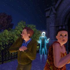 Wacław i Jokasta bojący się duchów.