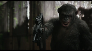 Koba with machine gun