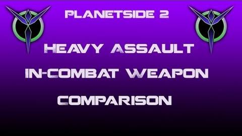 Vanu Heavy Assault Weapons In-Combat Comparison - Planetside 2