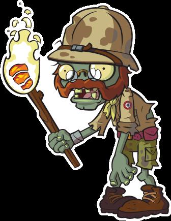 Zombie explorateur wiki plantes contre zombies fandom for Plante vs zombie 2