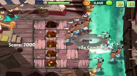 Plants vs Zombies 2 Pirate Seas Day 3 Walkthrough