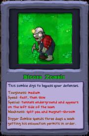 Almanac Card Digger Zombie