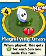 Received Magnifying Grass