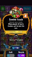 Zombie Coach statistics
