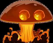 Extinction mushroom close up