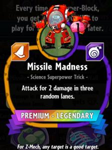 Missile Madness statistics