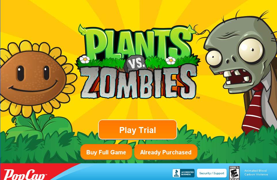 free plant vs zombies game