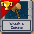Whack a zombie completed
