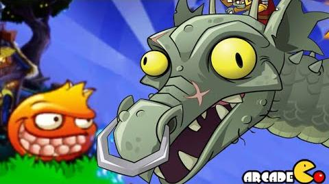 Plants Vs Zombies 2- New Plants Pomegranate Vs Dark Ages Zombot Dragon