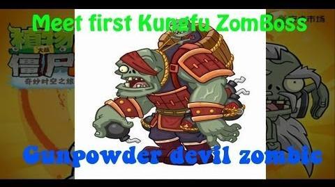 Gunpowder Devil Zombies - Kungfu Map Day 16 - Kungfu Zomboss - Plants vs Zombies 2 Chinese Gameplay