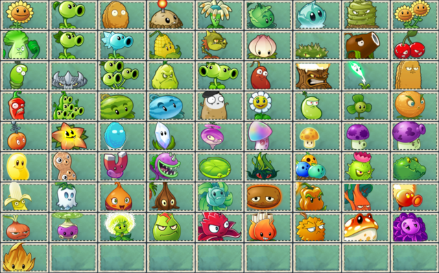 File:All Plants from PvZ2.png