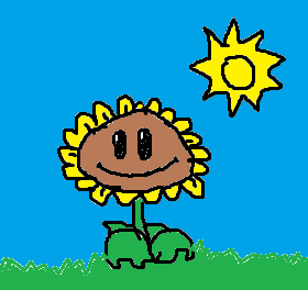File:Quick Sunflower Drawing on Paint.png