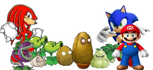File:Sonic, Plants vs. Zombies and Mario Bros.JPG