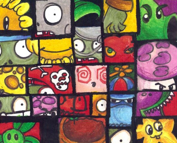 File:Plants Vs Zombies Collage by Trojanwarrior46.jpg