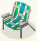 Mint lawn chair