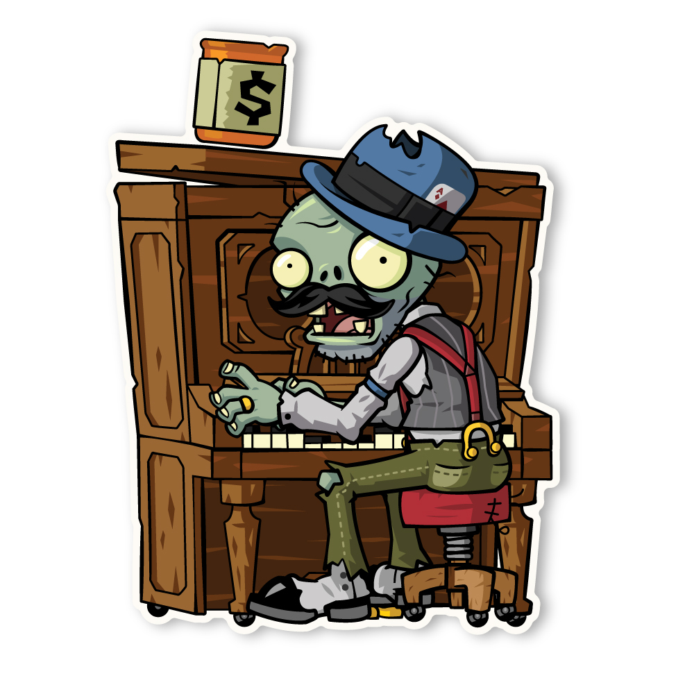 Zombi pianista wiki plants vs zombies fandom powered for Cuartos decorados de plants vs zombies