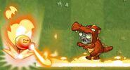 Fire Peashooter Trail Immunity