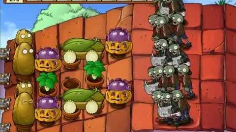Plants vs Zombies - Survival Roof Hard - No Sunflower
