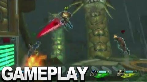 PlayStation All-Stars Battle Royale - Metropolis Gameplay