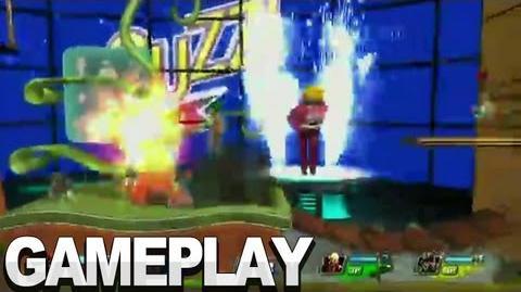 PlayStation All-Stars Battle Royale - Sandover Village Gameplay