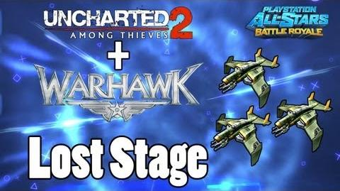 Playstation All-Stars Battle Royale Uncharted 2 & Warhawk Lost Stage