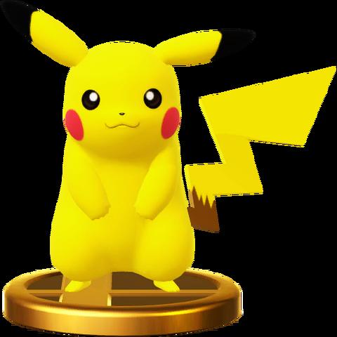 File:Pikachu trophy SSBWU.png