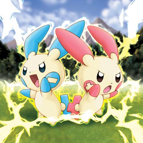 File:Plusle and Minun Pokemon Ranger.jpg