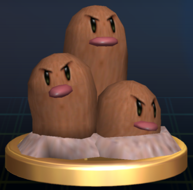 File:Dugtrio trophy SSBB.png