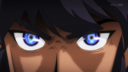 Alain's furious eyes