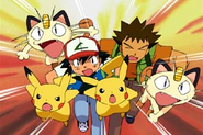 Pikachu, Ash's Pikachu, and co.