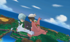 Latias soaring in the sky ORAS