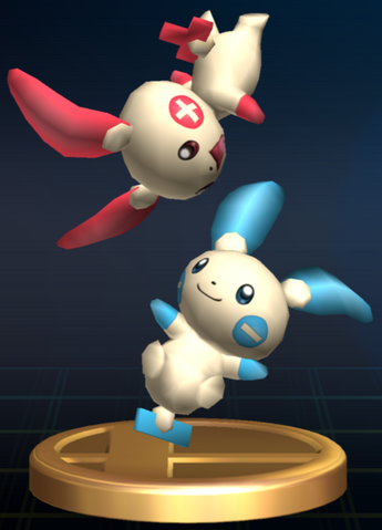 File:Plusle and Minun trophy SSBB.png