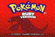 Pokemon Ruby title screen