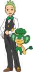 Pansage and Cilan 1