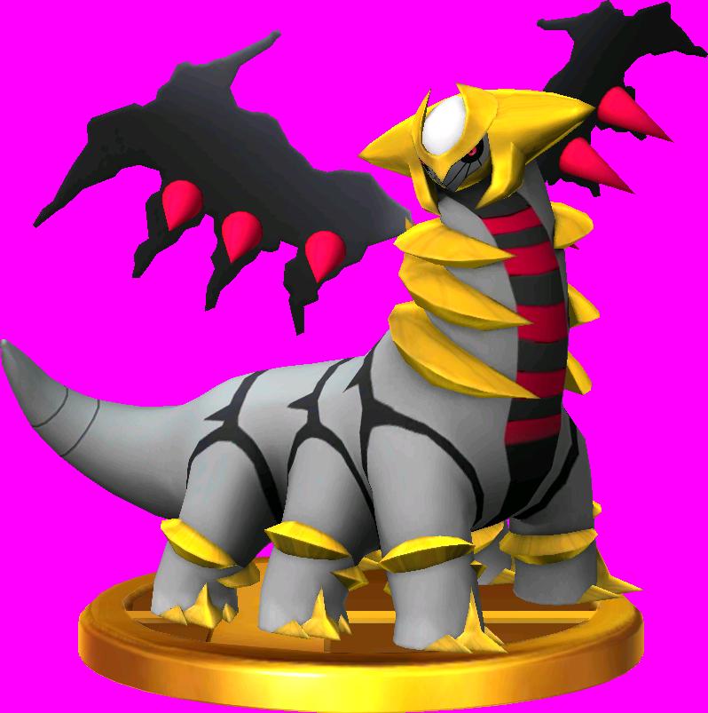 File:Giratina trophy SSB3DS.png