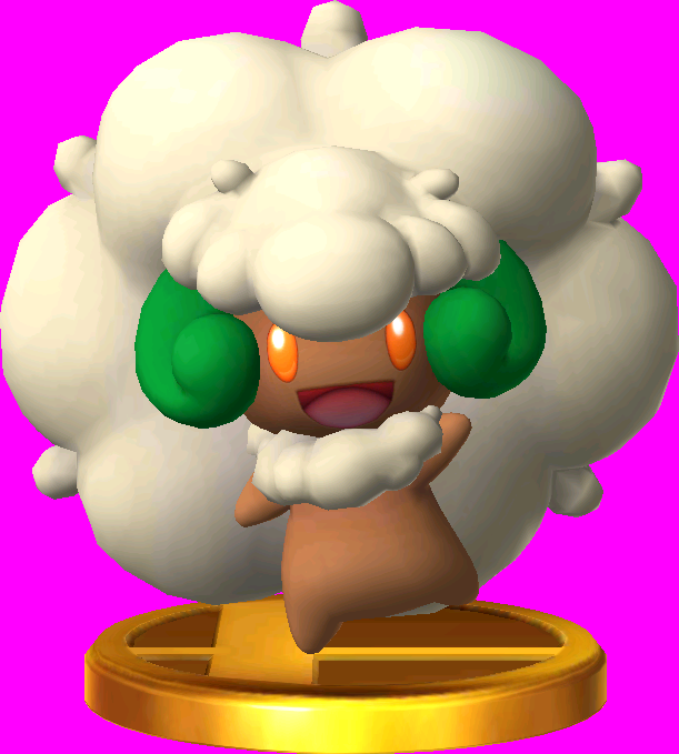 Whimsicott trophy SSB3DS