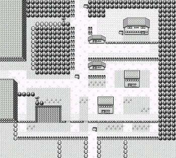 Map of Viridian City Generation I