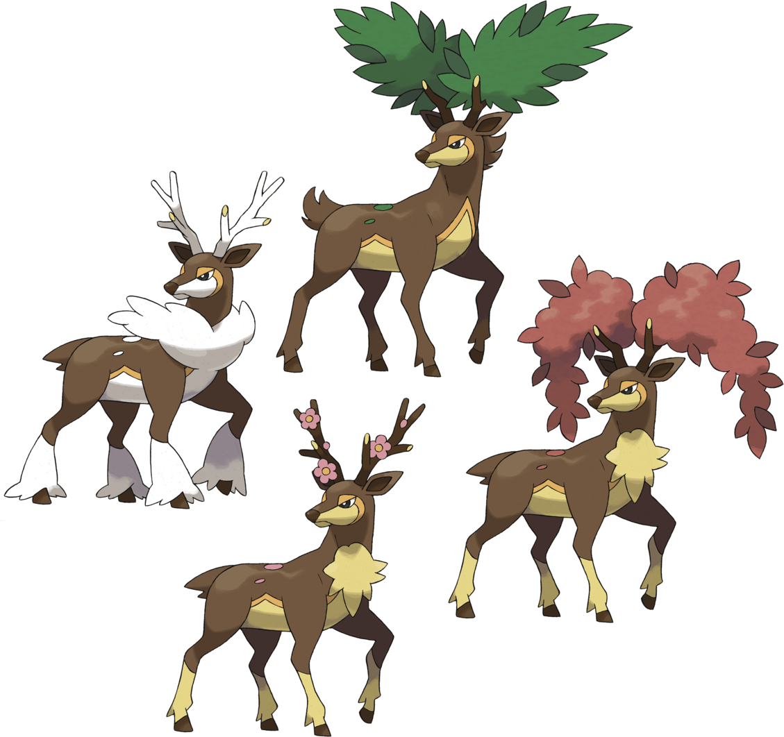 pokemon sawsbuck winter coloring pages - photo#30