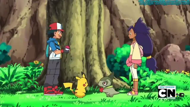 File:- here is when Ash was trying to capture Iris's Axew 2nd time.png