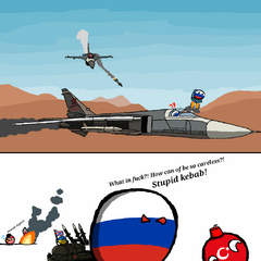 Retarded Kebabs Shooting down Jets of Russia.