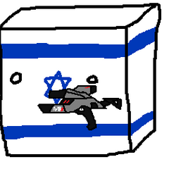 Israelcube with a ₪2,000,000 worth something he knows money can buy, A.K.A. a gun.