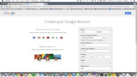 How to Create a YouTube Account 2014