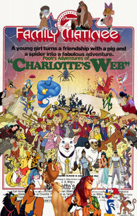 Pooh's Adventures of Charlotte's Web poster (version 2)