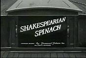 Shakspearian spinach