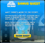 SuperVillain Bonus Quest