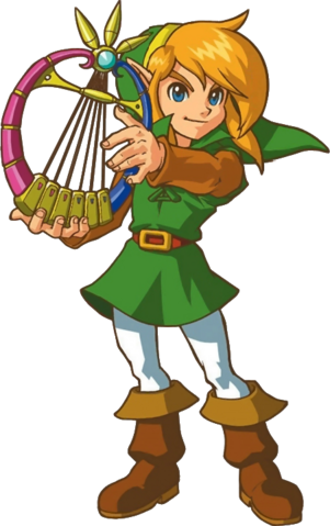 File:Link and the Harp of Ages.png