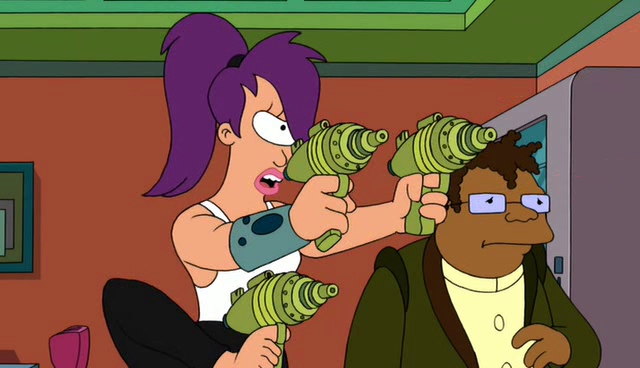 File:Leela wielding three blasters.png